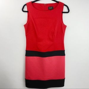 Laundry by Shelli Segal red and black shift dress